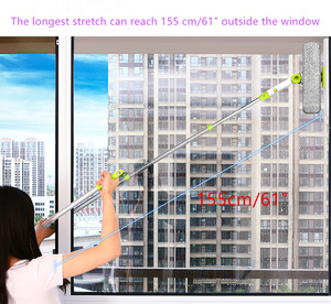 Image 2 - Hot Upgraded Telescopic High rise Window Cleaning Glass Cleaner Brush For Washing Window Dust Brush Household cleaning tools