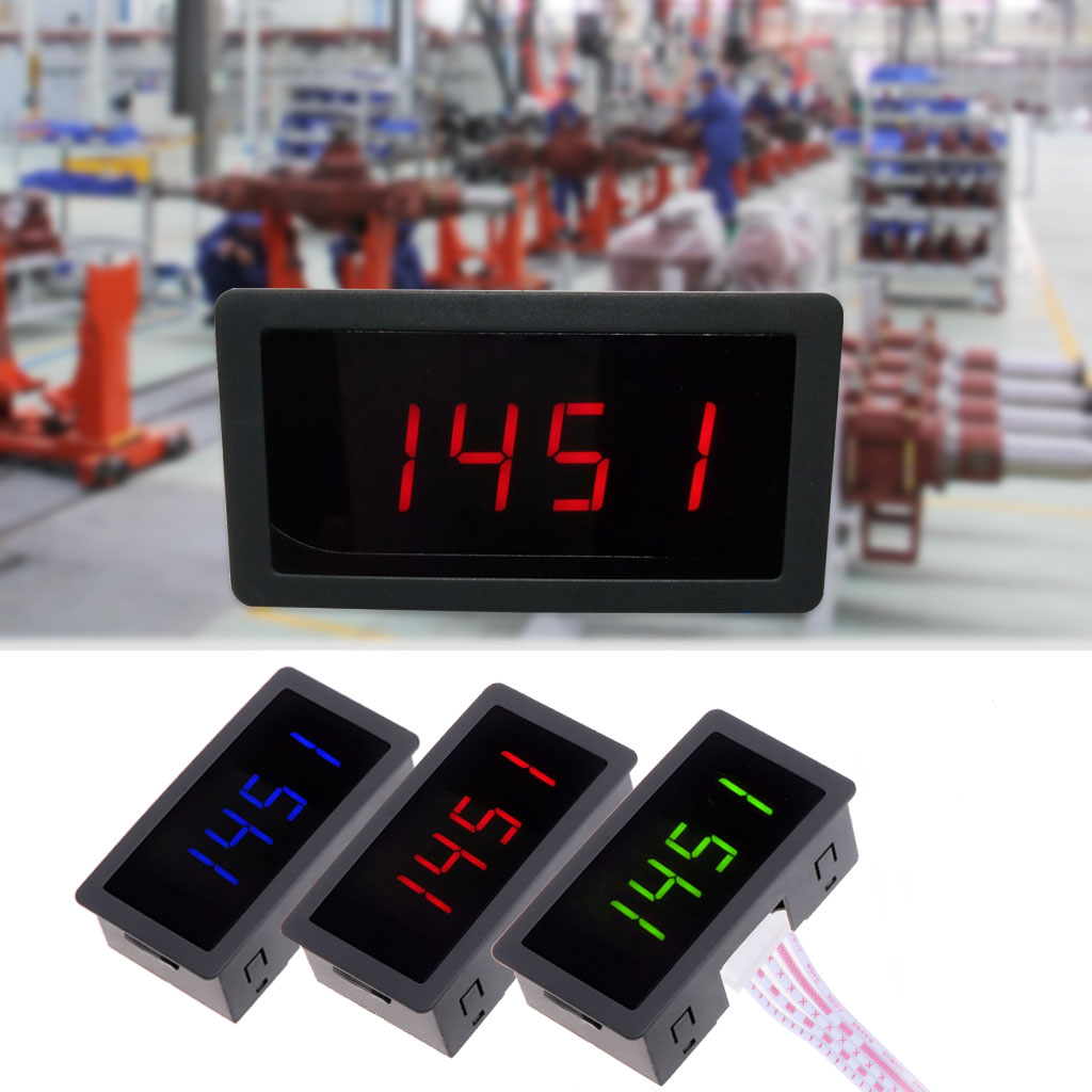 4 LED Digital tacómetro RPM Speed Meter + Sensor de proximidad NPN 12 V 9999 RPM
