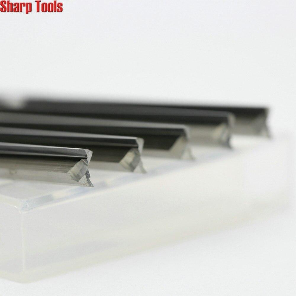 Прочный 5 шт. 6*52 мм 2 прямые флейты фрезы, режущие инструменты с ЧПУ, карбидные фрезы, дерево, EVA, ПВХ, ABS резьба машина