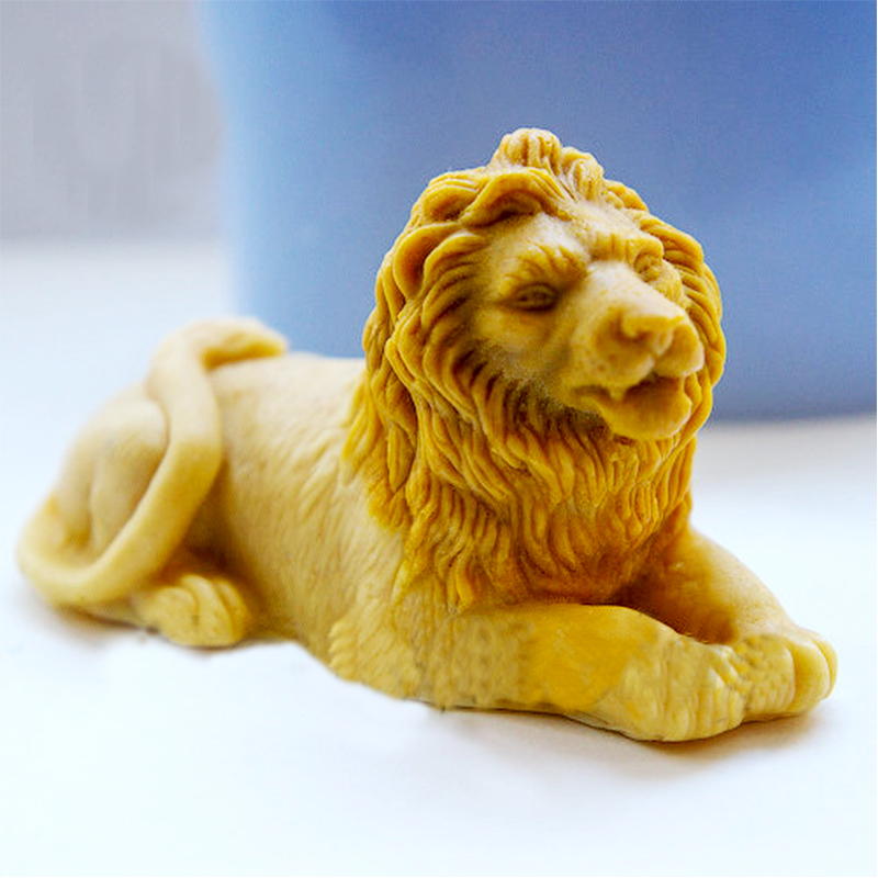 PRZY Lion 3D Mold Soap Mould Silicone Molds Mold For Soap Animals Lion Molds Handemade Soaps Mould  Aroma Stone Moulds