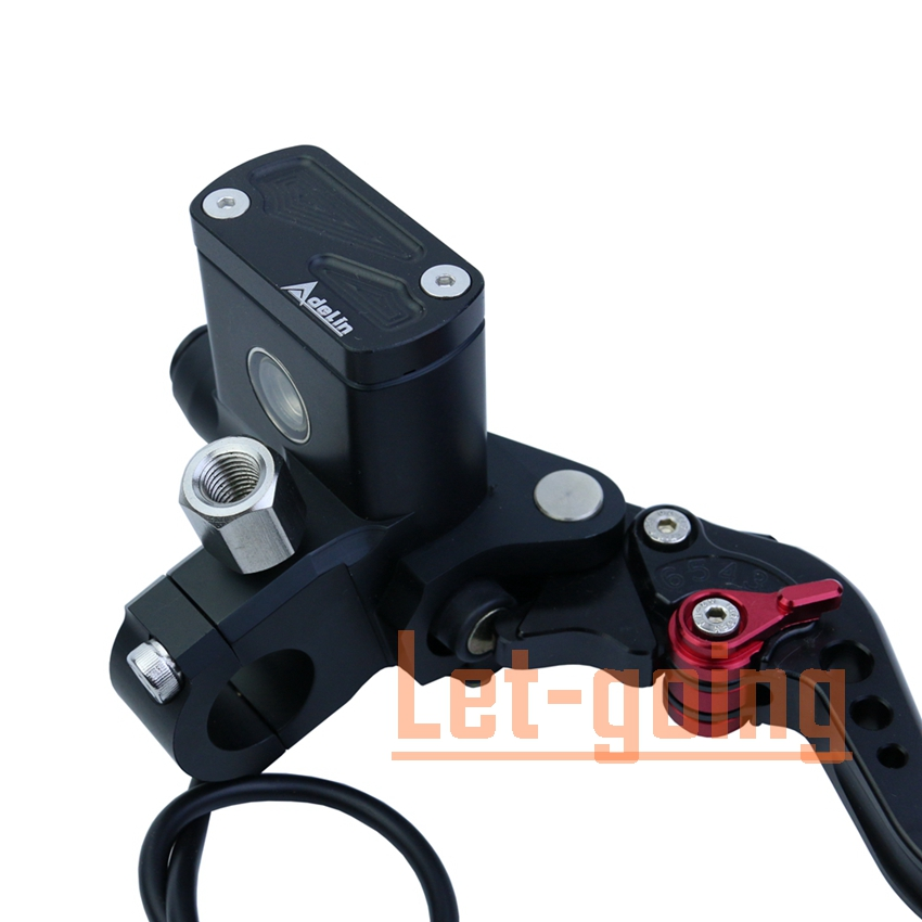 Motorcycle Accessories 1 pair PX6 Brake Clutch Pump Hydraulic Cylinder Master Cylinder CNC piston for Honda Yamaha silver