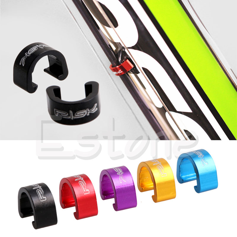 5x New Bike Bicycle MTB C-Clips Buckle Hose Brake Gear Cable Housing Guide Tool~