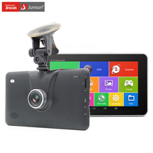 Junsun 7″ Car DVR GPS navigator Android FHD 1080P dvrs Recorder Camera gps navigation lifetime maps Bluetooth MT8127 Quad-Core