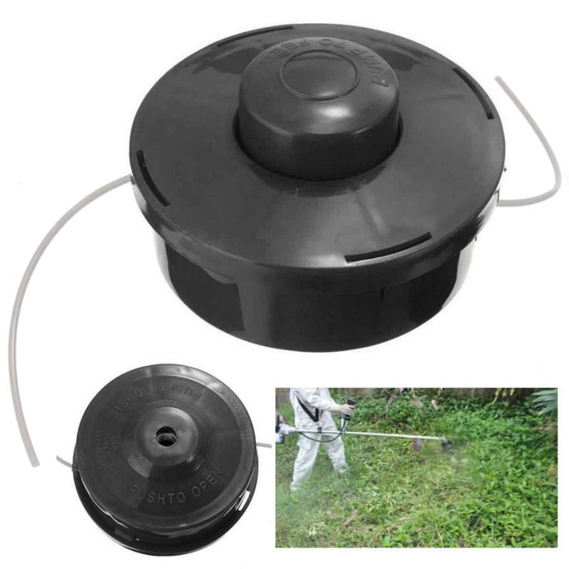 DWZ   Universal Nylon Brush Cutter Mower Bump Spool Grass Trimmer Head Black craftsman automatic feed spool with nylon line replacement 71 85942