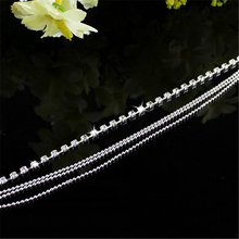 Chic Women's 4 Layers Crystal Beads Sandal Beach Anklet Ankle Chain Foot Jewelry