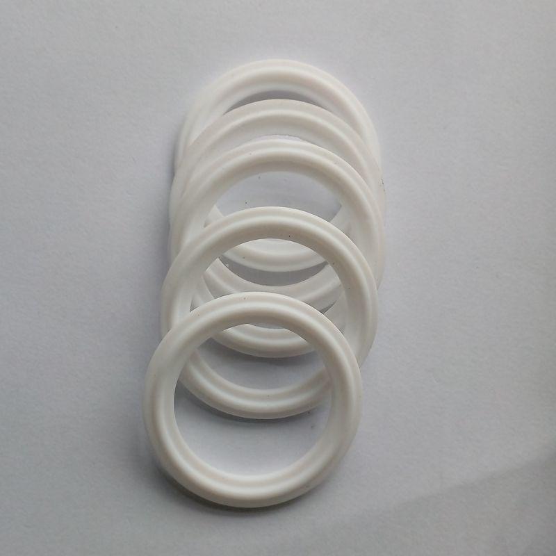 5 pcs 1.5 PTFE Gasket Fits 50.5 mm OD Sanitary Tri Clamp Type Ferrule Flange SPG-1.5-38