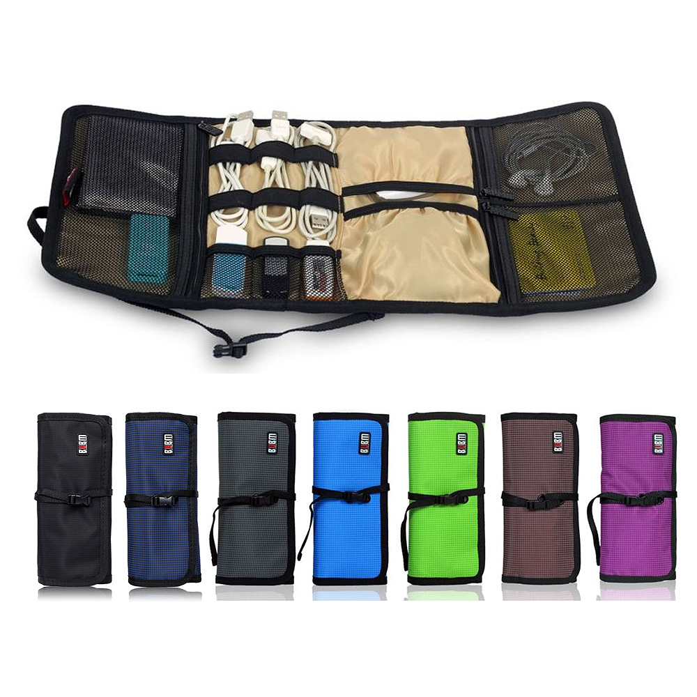 BUBM Organizer Roll UP Electronics Accessories Case ...