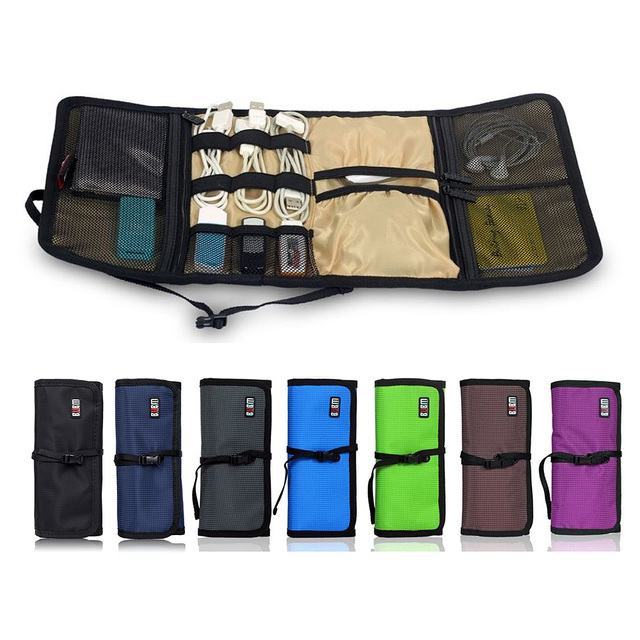 506231203c BUBM Organizer Roll UP Electronics Accessories Case Storage Travel Organizer    Hard Drive Bag   Cable Bag  bag wire electronic