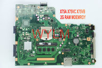 Free Shipping NEW Brand Original X75A X75VC X75VB Laptop Motherboard MAIN BOARD WITH 2G RAM MEMORY