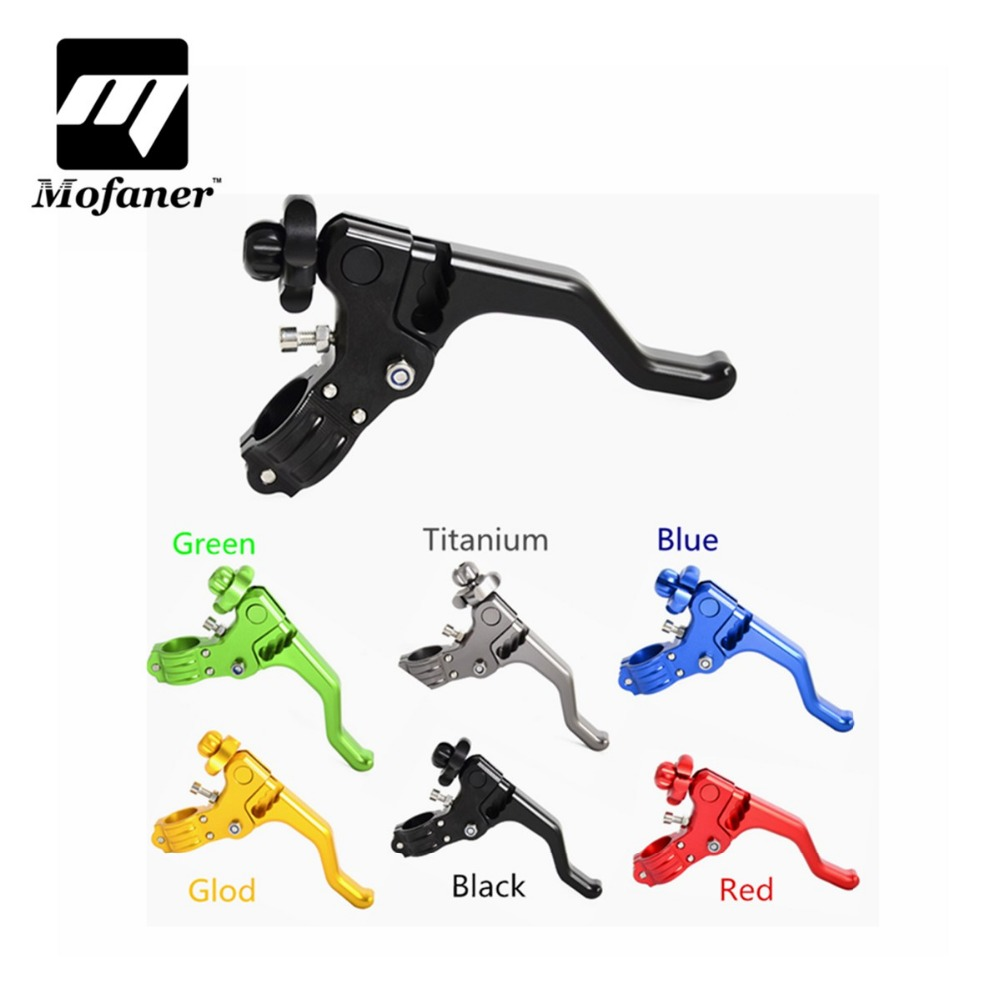 CNC Short Stunt Clutch Lever Perch Motorcycle Brake Clutch Levers For Honda CR80/125 CRF 250R/X 450R/X XR650R free shipping cnc 6 position short brake clutch lever for honda x 11 1999 2000 2001 2002