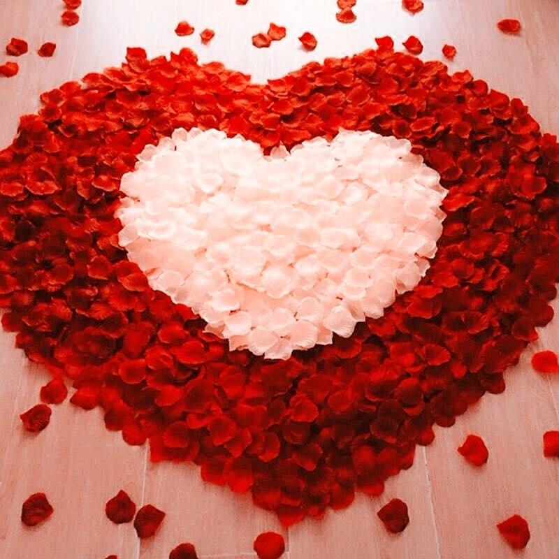 100 шт./лот лепестки роз, свадьба, украшение, искусственный цветок, свадебный цветок, роза, украшение для рождественской вечеринки, декор для в...