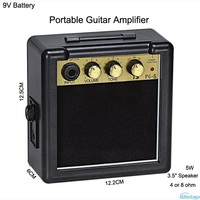 IWISTAO 5W Digital Acoustic Portable Mini Guitar AMP Amplifier Speaker 3 5 Inches No Including 9V