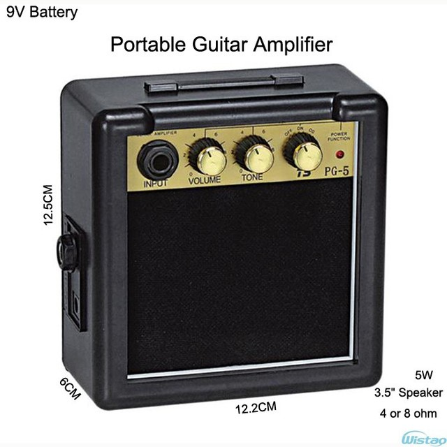iwistao 5w digital acoustic portable mini guitar amp amplifier speaker 3 5 inches no including. Black Bedroom Furniture Sets. Home Design Ideas