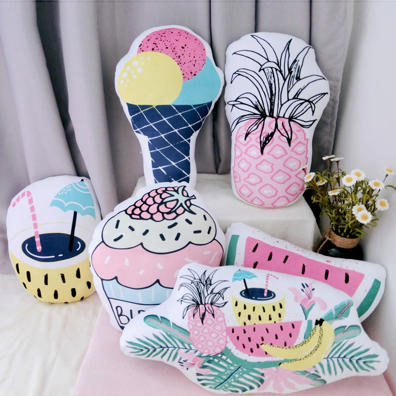 Toys & Hobbies Methodical 6 Styles Cool Summer Drink Ice-cream Shaped Pillow Stuffed Fruit Plush Pillow Cushion Home Decoration Kids Girls Presents Consumers First