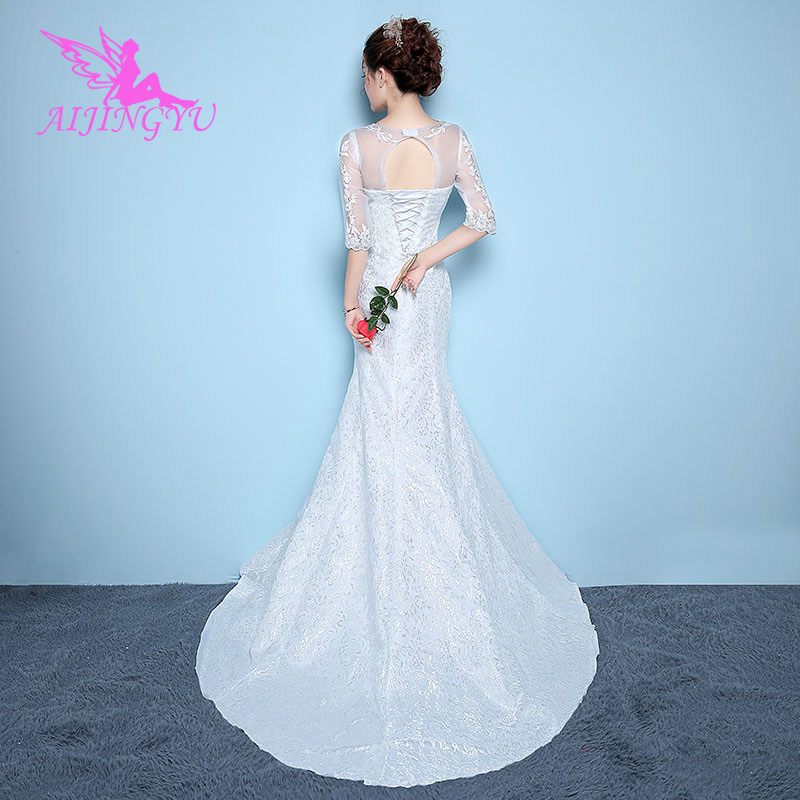 AIJINGYU Plus Size Bridal Dresses 2018 Guest Wedding Dress WK864