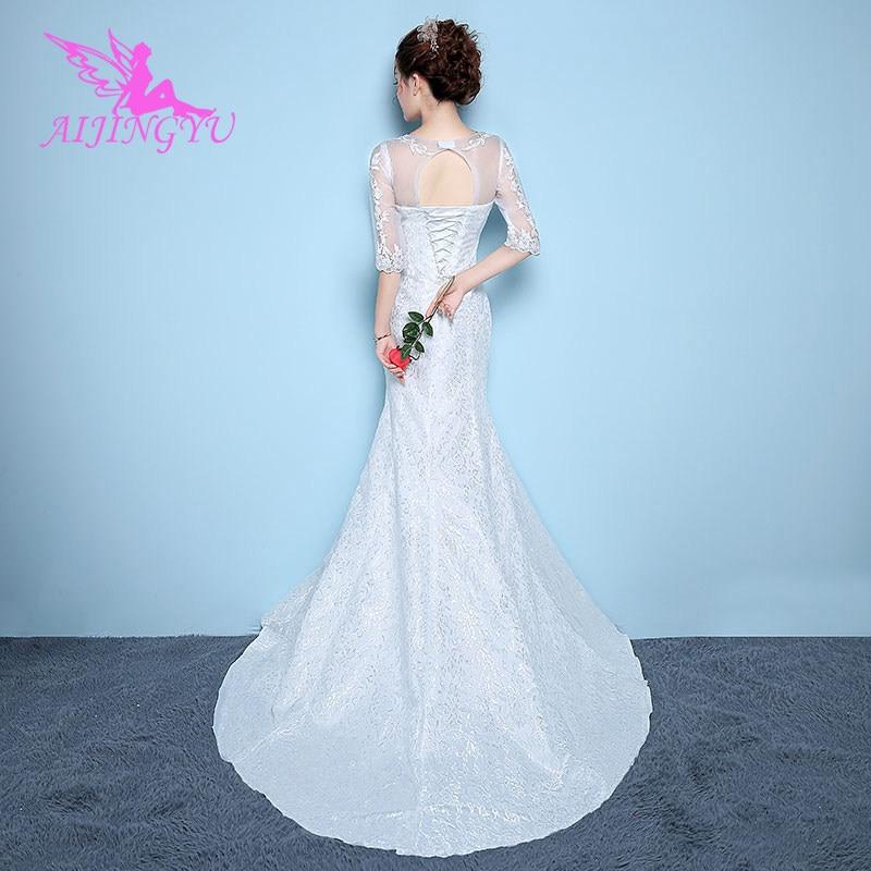 AIJINGYU plus size bridal dresses 2018 guest wedding dress WK864