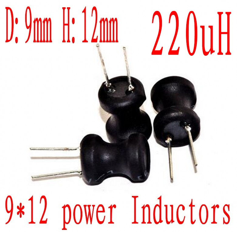 x2 Pcs Radial power inductor 22UH 9X12mm 7677A