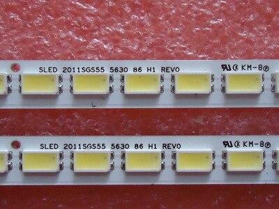2pcs LED Backlight Lamp Strip 86leds SLED 2011SGS55 5630 86 H1 REV0 LJ64-03045A For Sam Sung LTA550HJ12 LTA550HQ14 L55E5200B