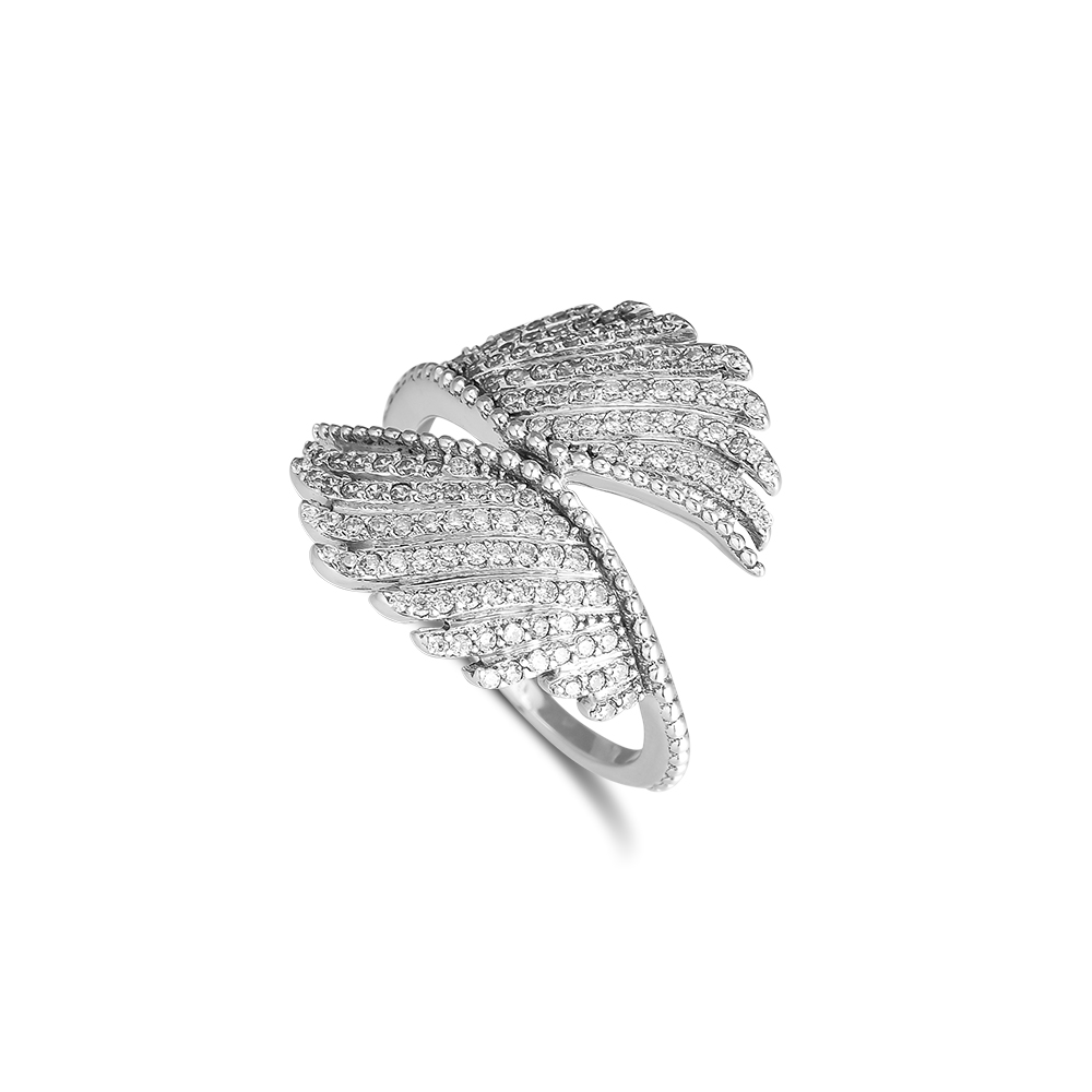 Wholesale Free Shipping Sterling Solid Silver Plated Butterfly Stone Ring YG