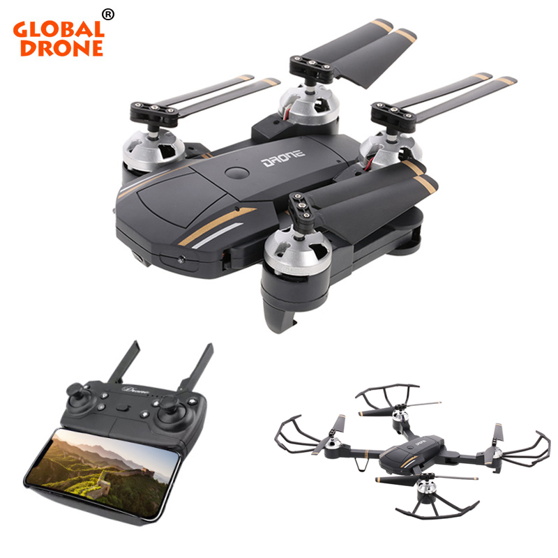 Global Drone With Camera HD Foldable RC Quadcopter Altitude Hold Helicopter Wifi FPV Dron VS E58 ky601 wifi fpv rc drone foldable quadcopter with hd camera