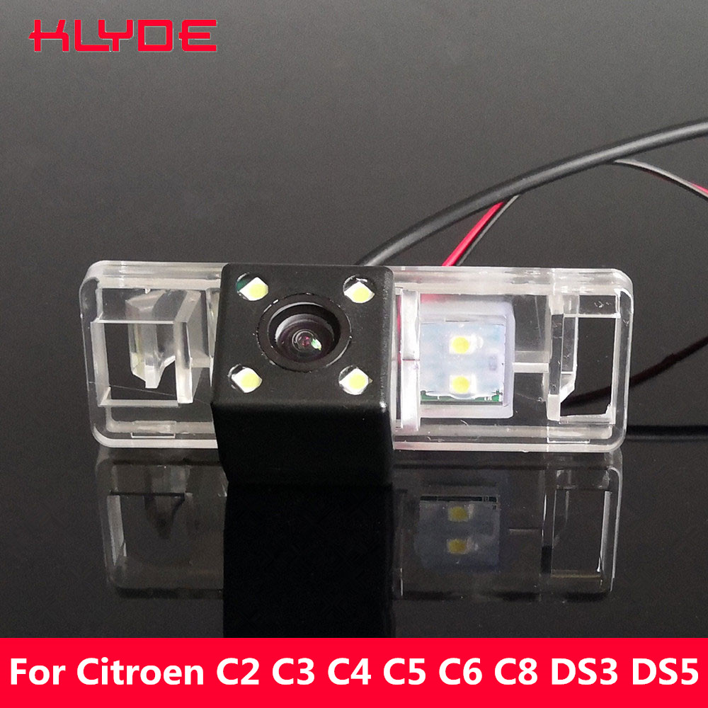 KLYDE Car Rear View Reverse Night Vision Camera For Citroen C2 C3 C4 C5 C6 C8 DS3 DS5 Sega Elysee C-Elysee C-Quatre C-Triomphe дефлекторы окон novline autofamily skoda yeti 2009