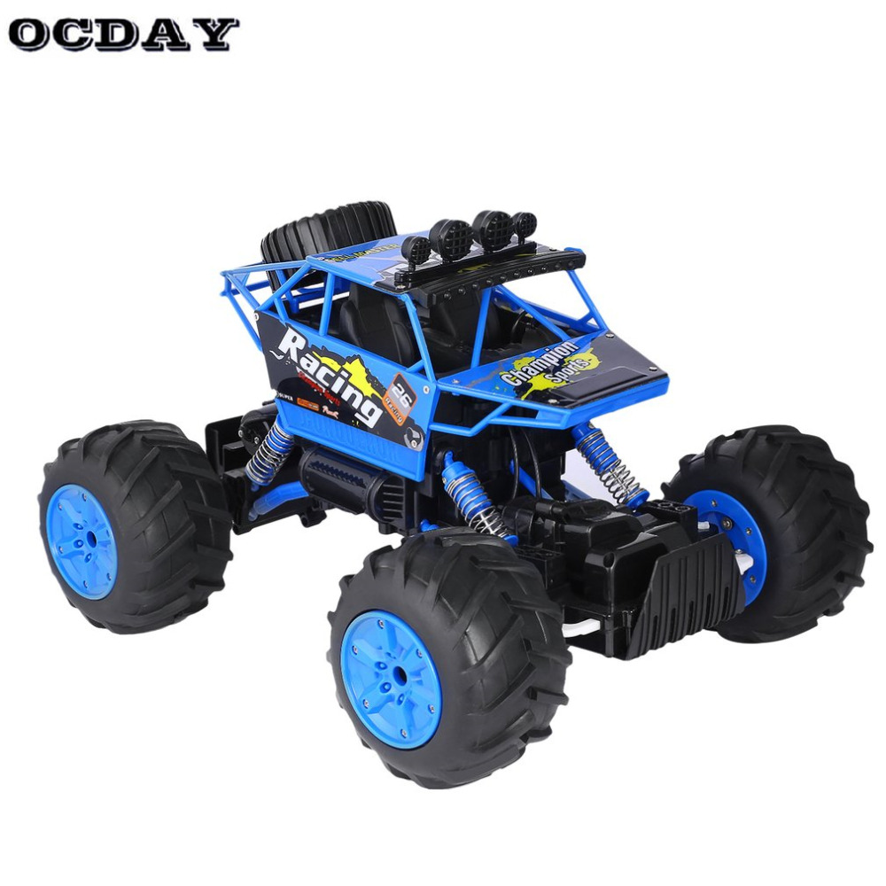 OCDAY RC Car 1:14 Water And Land Truck Big Rubber Tire Electric Bigfoot Car Remote Control Buggy Model Off-Road Vehicle Toy New remote control 1 32 detachable rc trailer truck toy with light and sounds car