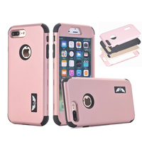 Hybrid Case For Iphone Apple 7 Plus Hard Silicone Shockproof Rugged Cover Full Protector Cases Front