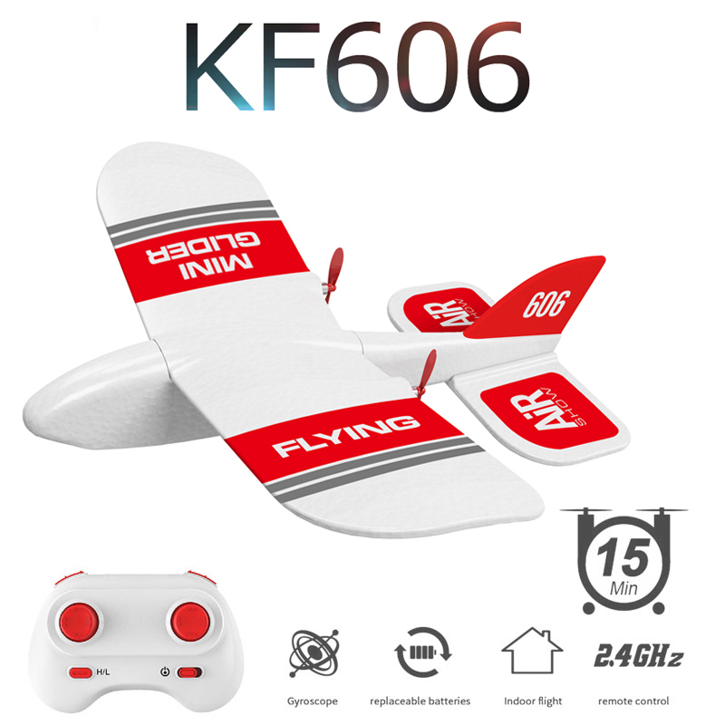 2019 New KF606 2.4Ghz RC Airplane Flying Aircraft EPP Foam Glider Toy Airplane 15 Minutes Fligt Time RTF Foam Plane Toy Kid Gift image