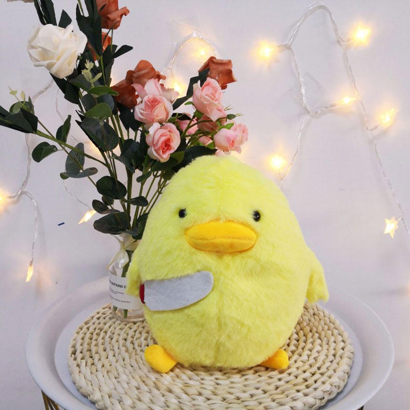 30cm Cartoon Duck With Knife Plush Toy Cute Hamster Animal Stuffed Plush Dolls For Kids Gift