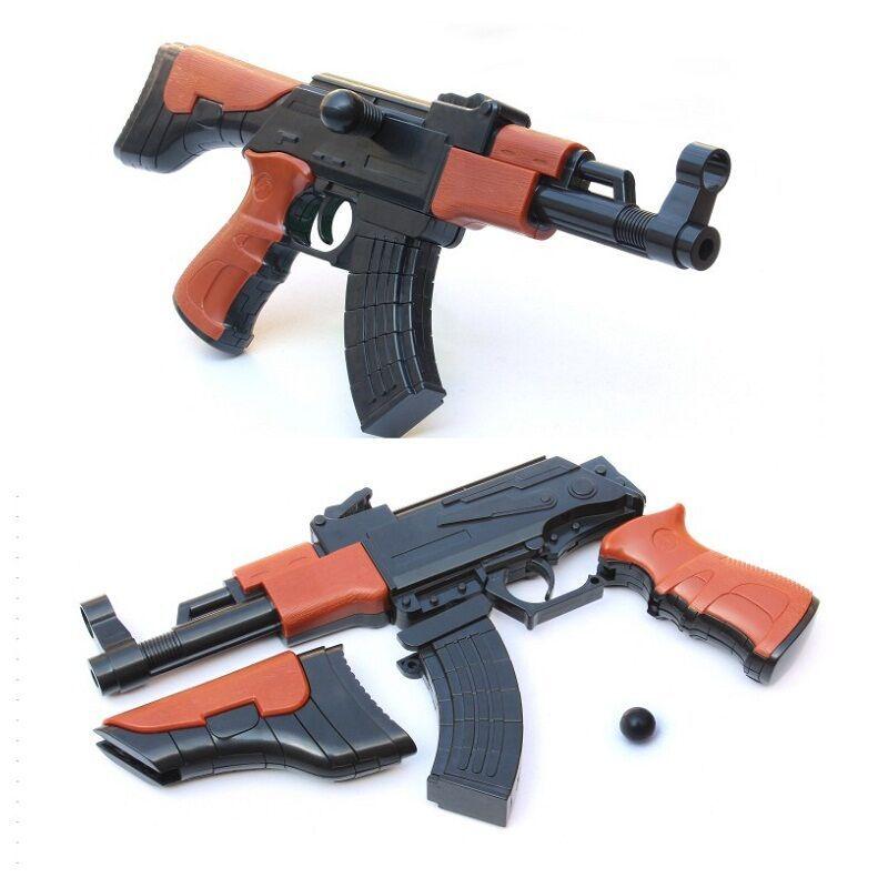28cm AK 47 blocs de construction pistolet en plastique assemblé arme à feu militaire AK fusil garçon arme peut tir sécurité balle jouet extérieur