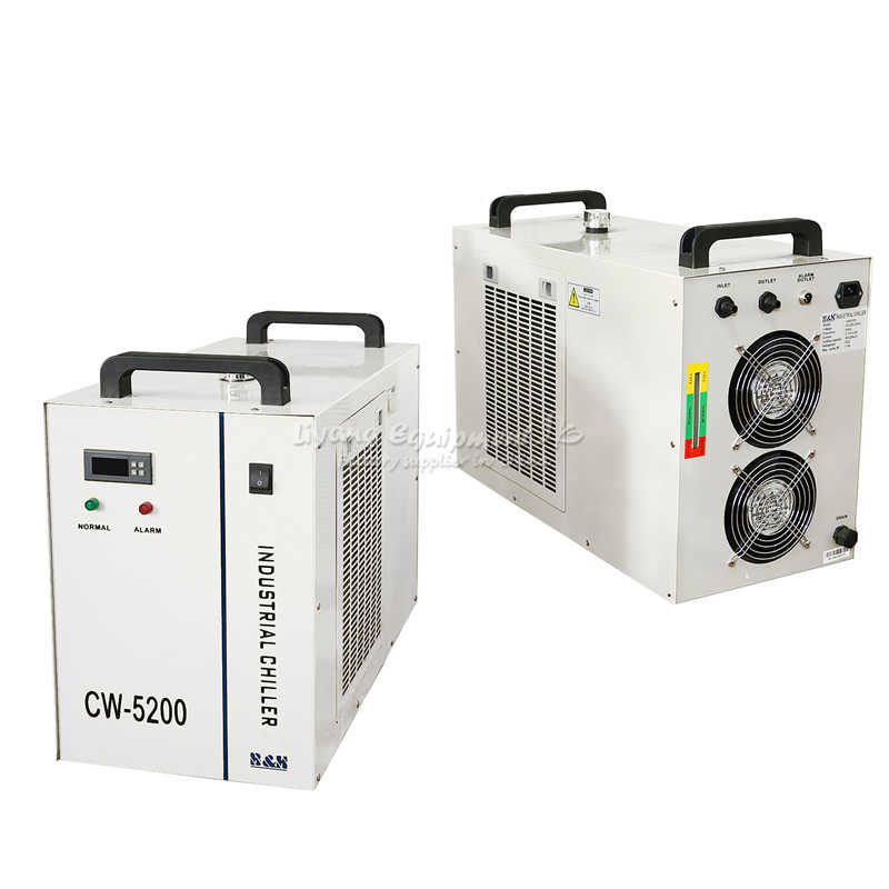 الصناعية مبرد مياه مبرد CW 5200AH ل CNC المغزل تبريد الليزر أنبوب 130 W 150 w