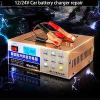 Newest 110V 220V Automatic Electric Car Battery Charger Intelligent Pulse Repair Type Battery Charger 12V 24V