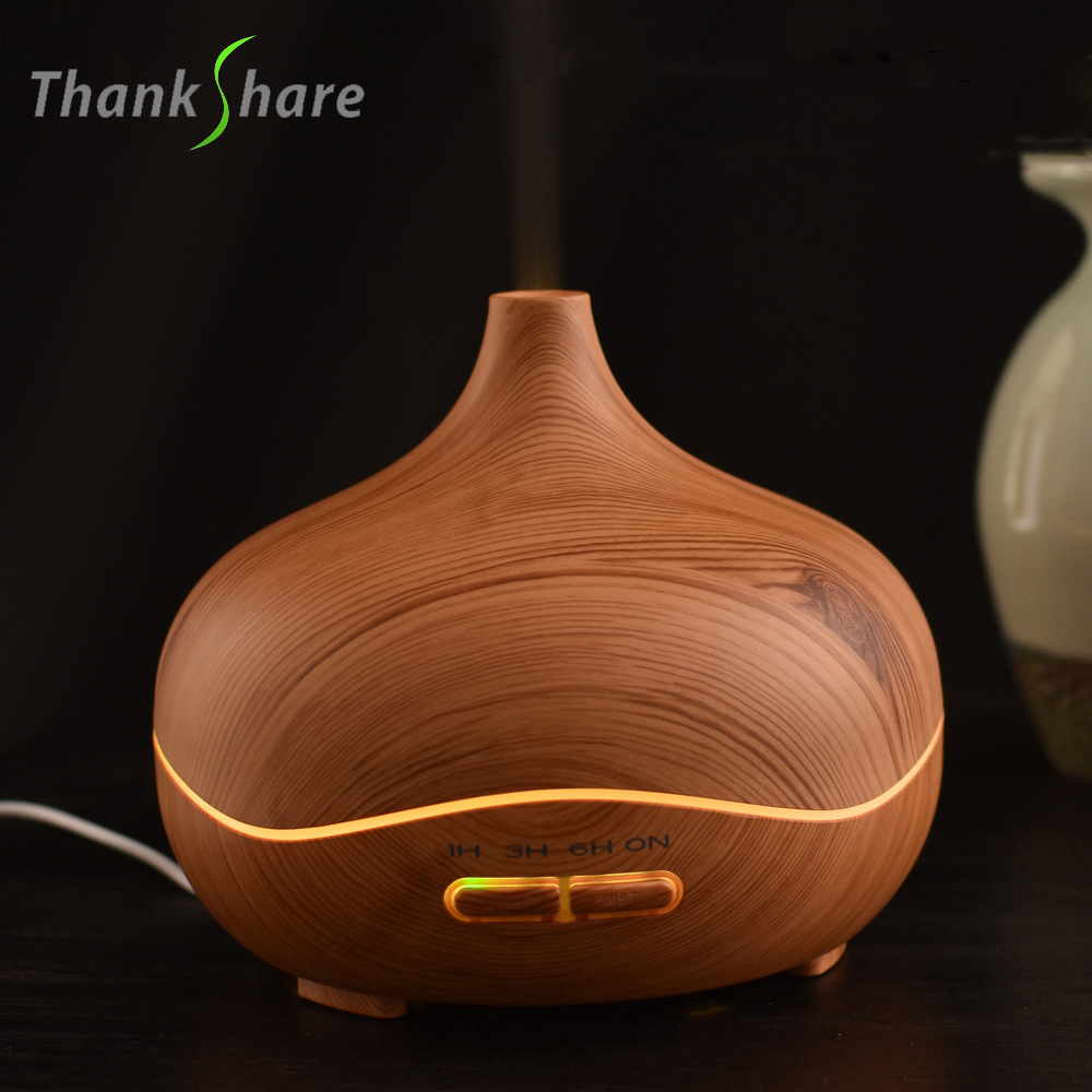 THANKSHARE Aroma Essential Oil Diffuser Ultrasonic Air Humidifier 300ml Lamp Aromatherapy Electric Diffuser Mist Maker for home hot large capacity 3l ultrasonic humidifier essential oil diffuser aroma lamp aromatherapy electric aroma diffuser mist maker