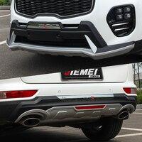Fit For Kia Sportage KX5 2016 2017 Front+ Rear Bumper Diffuser Bumpers Lip Protector Guard skid plate ABS Chrome finish 2PES|rear bumper diffuser|bumper lipbumper diffuser -