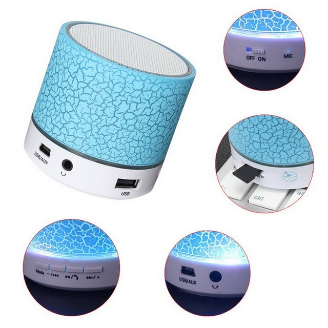 Portable With Micro SD TF Radio Fm USB Phone Call For Computer  Bluetooth Speaker Mini LED Wireless Speakers Play Music