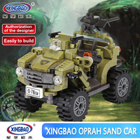 Hot Genuine XINGBAO 06010 Military Series 347Pcs The Oprah Sand Car Set Building Blocks Bricks Toys