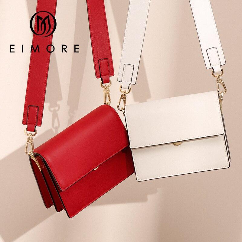 EIMORE marque femmes mode sacs à bandoulière petit Messenger sacs à bandoulière en cuir véritable sac à bandoulière rabat dames sacs pour fille