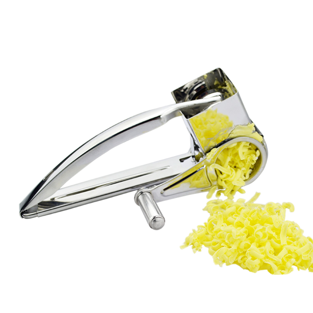 5pcs//Set Stainless Steel Cheese Grater Hand Held Rotary Cheese Shredder Cutter