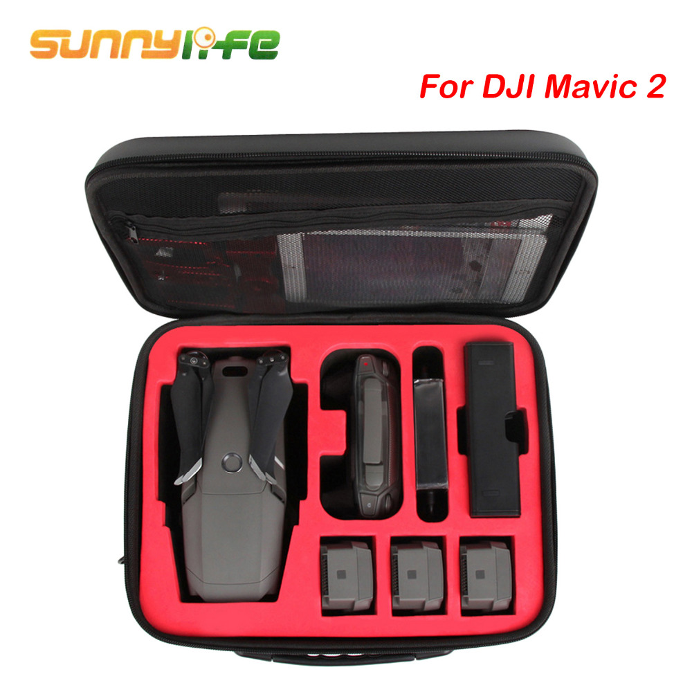 SUNNYLIFE Waterproof Shockproof Storage Carry Protective Case Bag with Shoulder Strap For DJI MAVIC 2 Pro