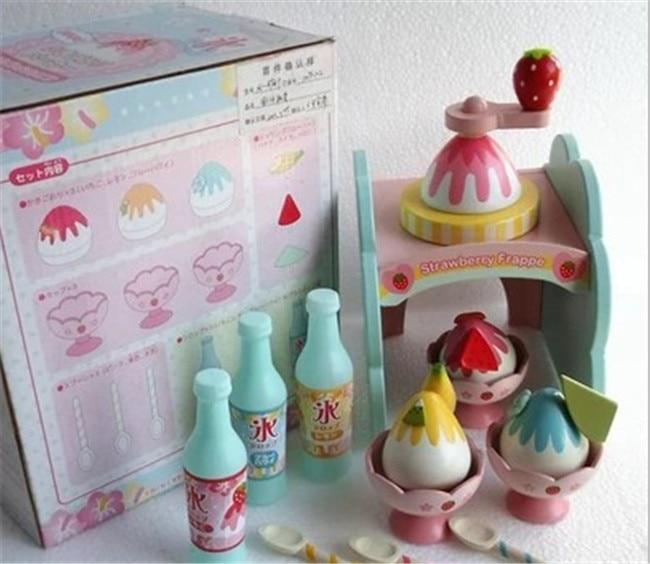 nuovo giocattolo di legno set da cucina giocattolo di frutta al cioccolato ice cream fa macchina