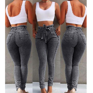 shiweng 2019 high waist women's tight jeans ladies