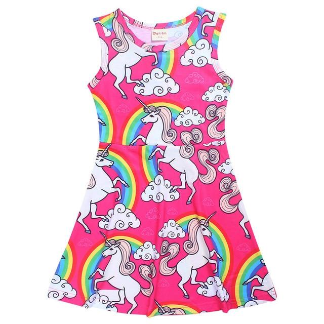 98cc720fb0d80 Licorne pyjamas Bébé Filles Robe D été chemise de nuit Partie Robes De  Soirée Pour