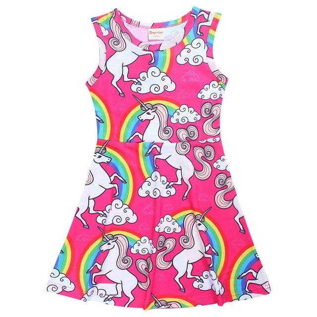 Unicornio Pijamas bebé Niñas vestido verano camisón partido Vestidos ...
