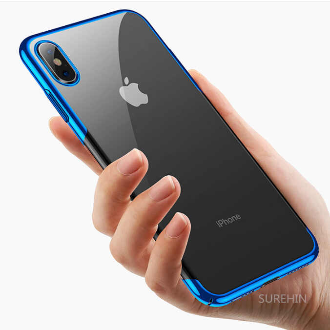 cheap for discount 32ef2 80f31 SUREHIN clear case for apple iPhone XS MAS XR X 8 7 6 S Plus transparent  silicone case cover black rose gold soft tpu housing