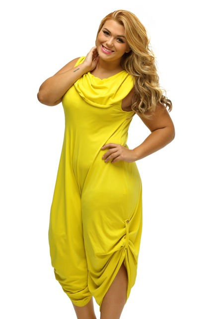 ef65185b08b Zmvkgsoa sexy women plus size harem jumpsuit pattern cowl neck summer  autumn fitted loose clothes xl