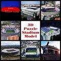 Новый умный и счастливую 3D модель головоломка real photo Soccerfootball сувенирная взрослый diy бумаги satdium игрушки Рождественских Хэллоуин Подарок