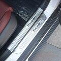 Für Hyundai Tucson 2015 2016 2017 Interne Externe Edelstahl Verschleißplatten türschwelle Abdeckung Pedal Trim Auto Zubehör-in Nerf Bars & Trittbretter aus Kraftfahrzeuge und Motorräder bei