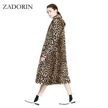 Европейская мода Женская X-Long искусственный мех леопардовое пальто Женская куртка из искусственного меха Gilet Pelliccia женские меховые пальто veste fourrure S-3XL