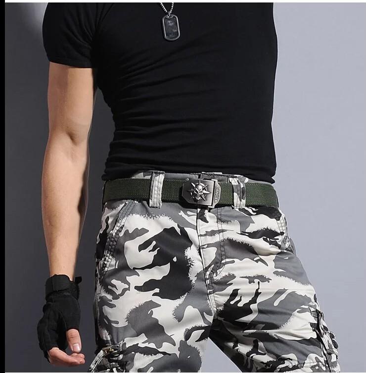Fashion men's Canvas belt skull Metal tactics woven belt canvas belt Casual pants Cool wild gift for men belts Skull large size 16
