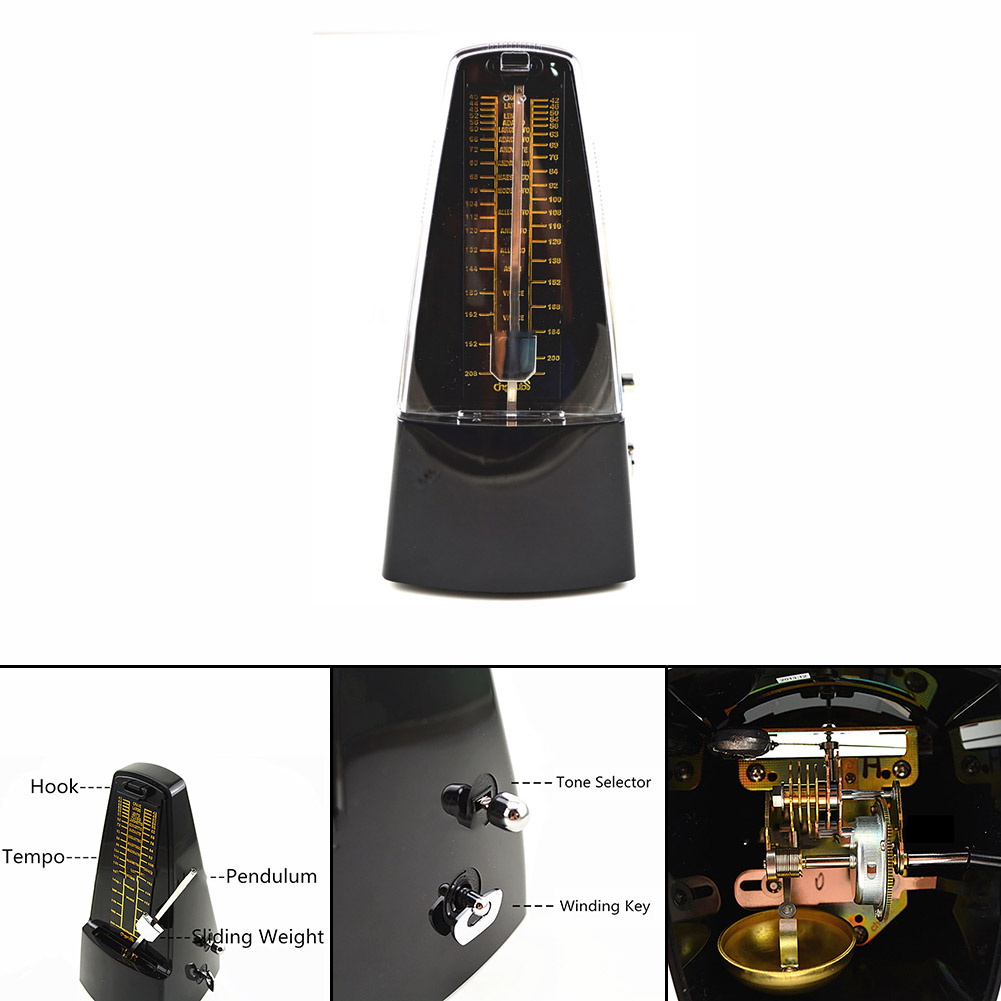 Homeland Professional Pyramid Mechanical Bell Ring Metronome Musical Timer Beat Tempo cherub wsm 330 rose wood cherry wood mechanical metronome musical instrument tempo beat rhythm